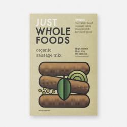 Just Wholefoods Organic Vegan Sausage Mix - 125g