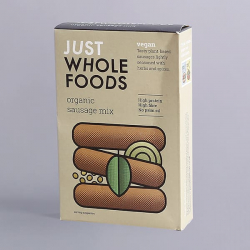 Just Wholefoods Organic Vegan Sausage Mix - 125g