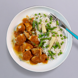Katsu Curry With Rice - 499kcal