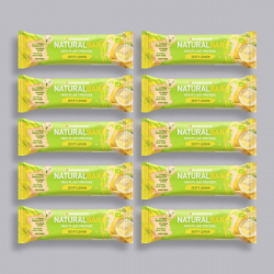 Maximuscle Natural Bar - Zesty Lemon - 10 x 40g