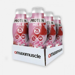 Maximuscle Protein Shakes - Strawberry 6 x 330ml
