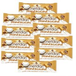 10 x Meridian Peanut and Coconut Bars