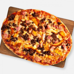 High Protein Mighty Meaty Pizza