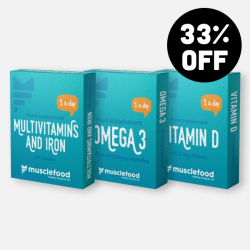 Multivitamin Pack Bundle - Omega 3, Iron & Vitamin D