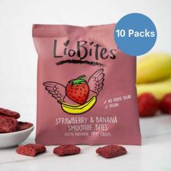 10 x LioBites Freeze Dried Strawberry & Banana Smoothie Bites
