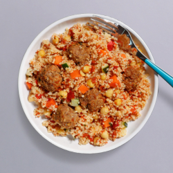 Moroccan Meatball & Couscous Pot - 413 kcal