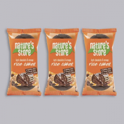 Nature's Store Dark Chocolate Rice Cakes 3 x 100g