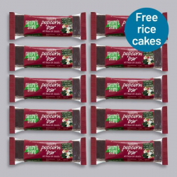 Nature's Store Dark Chocolate & Raspberry Popcorn Bar 10 x 35g