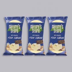 Nature's Store White Chocolate Rice Cakes 3 x 100g