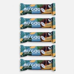 5 x Organic Chocolate Bar - Coconut Cinnamon - nucao