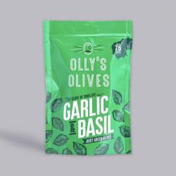 Olly's Olives - Basil & Garlic Halkidiki Olives 50g