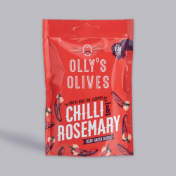 Olly's Olives Chilli & Rosemary Halkidiki Olives - 50g