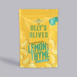 Olly's Olives - Lemon & Thyme Halkidiki Olives 50g