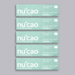 5 x Organic Chocolate Bar - Coconut Cinnamon - nucao