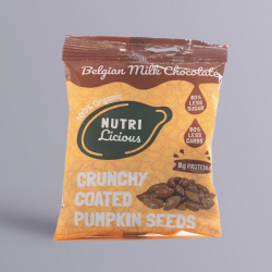 Nutrilicious Milk Chocolate Organic Pumpkin Seeds - 30g
