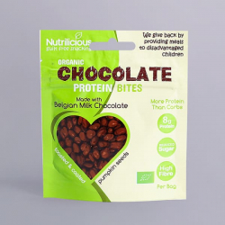 Organic Pumpkin Seeds - Milk Chocolate - Nutrilicious