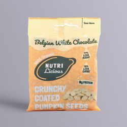 Nutrilicious White Chocolate Organic Pumpkin Seeds - 30g