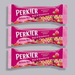 PERK!ER Quinoa Bar-Goji, Cranberry & Quinoa 3 For £2