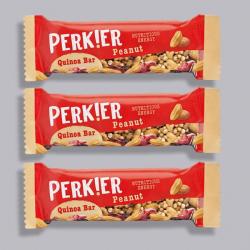 PERK!ER Quinoa Bar-Peanut & Quinoa 3 For £2