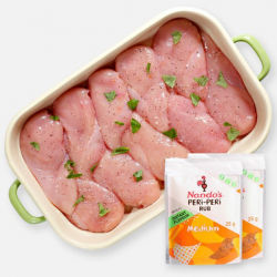 Premium Chicken Breast Fillets - 2.5kg + Free Nandos Rub