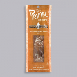 Primal Strips - Hickory Smoked Vegan Jerky -1 x 28g Pack ****