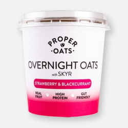 Proper Oats Overnight Oats - Strawberry & Blackcurrant