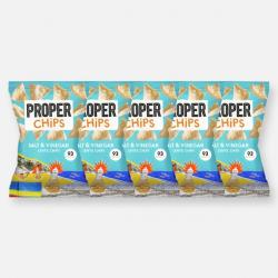 PROPERCHIPS - Salt & Vinegar 5 x 20g