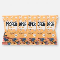 PROPERCORN - Peanut Butter & Almond - 5 x 25g