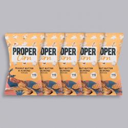 PROPERCORN - Peanut Butter & Almond - 5 x 20g