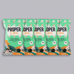 PROPERCORN - Sour Cream & Black Pepper - 5 x 20g