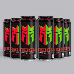 Melon Mania Reign Zero Calorie BCAA Energy Drink 6 x 500ml