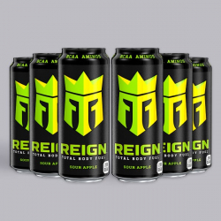 Sour Apple Reign Zero Calorie BCAA Energy Drink 6 x 500ml