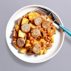 Sausage, Bean & Potato Pot - 374 kcal
