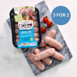 18 x 28g Nitrate Free Meaty Pork Sausages