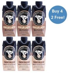 4 x Shaken Udder Milkshakes + 2 FREE