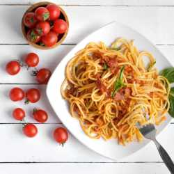 Low Fat Arabiatta Pasta by Eat Water