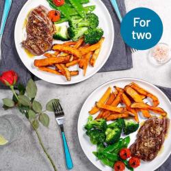 Steak with Sweet Potato Wedges Valentines Kit