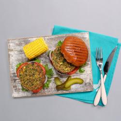 Vegit Spinach Burgers & Salt & Pepper Sweet Potato Fries