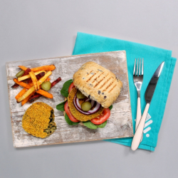 Vegit Burgers & Salt & Pepper Sweet Potato Fries