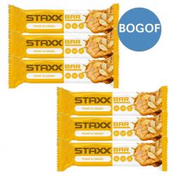 6 x STAXX Peanut and Caramel Protein Bars - BOGOF
