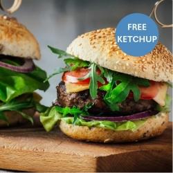 4 x Steak Burgers + Low Sugar Ketchup FREE