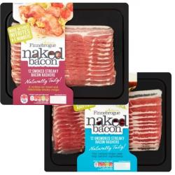 Finnebrogue Naked Streaky Bacon - 2 Packs JUST £4.45