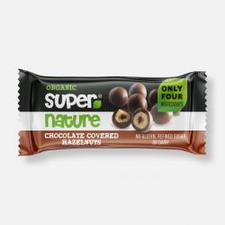 Supernature Chocolate Covered Hazelnuts 40g