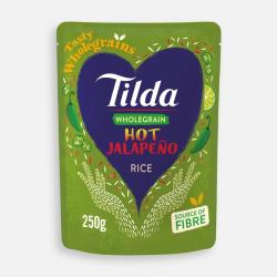Tilda Microwave Hot Jalapeno Wholegrain Rice 250g