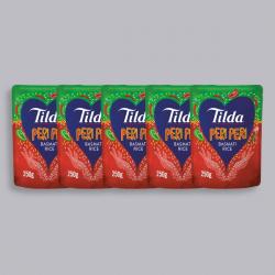 Tilda Microwave Peri Peri Basmati Rice 250g - x5