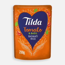 Tilda Microwave Tomato and Basil Basmati Rice 250g