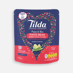 Tilda Pulses and Rice Snack - Pinto Bean, Green Chilli and Lime 140g