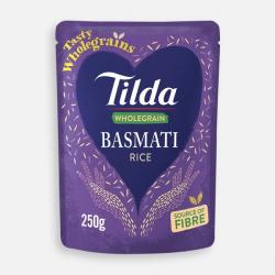 Tilda Microwave Wholegrain Basmati 250g