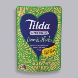 Tilda Super Grains Lime & Herb Rice 220g