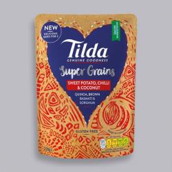 Tilda Super Grains Sweet Potato, Chilli & Coconut Rice 220g